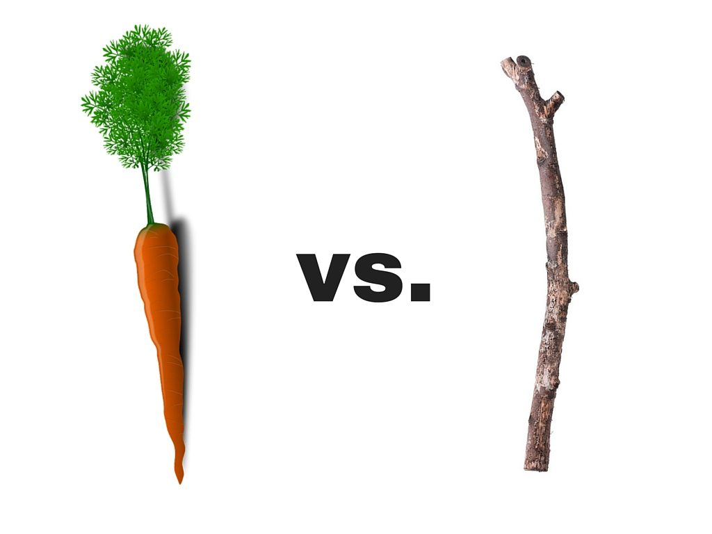 the carrot or the stick Not surprisingly, most management strategies emphasize some combination of  carrots and sticks as i explained in a previous column, the.