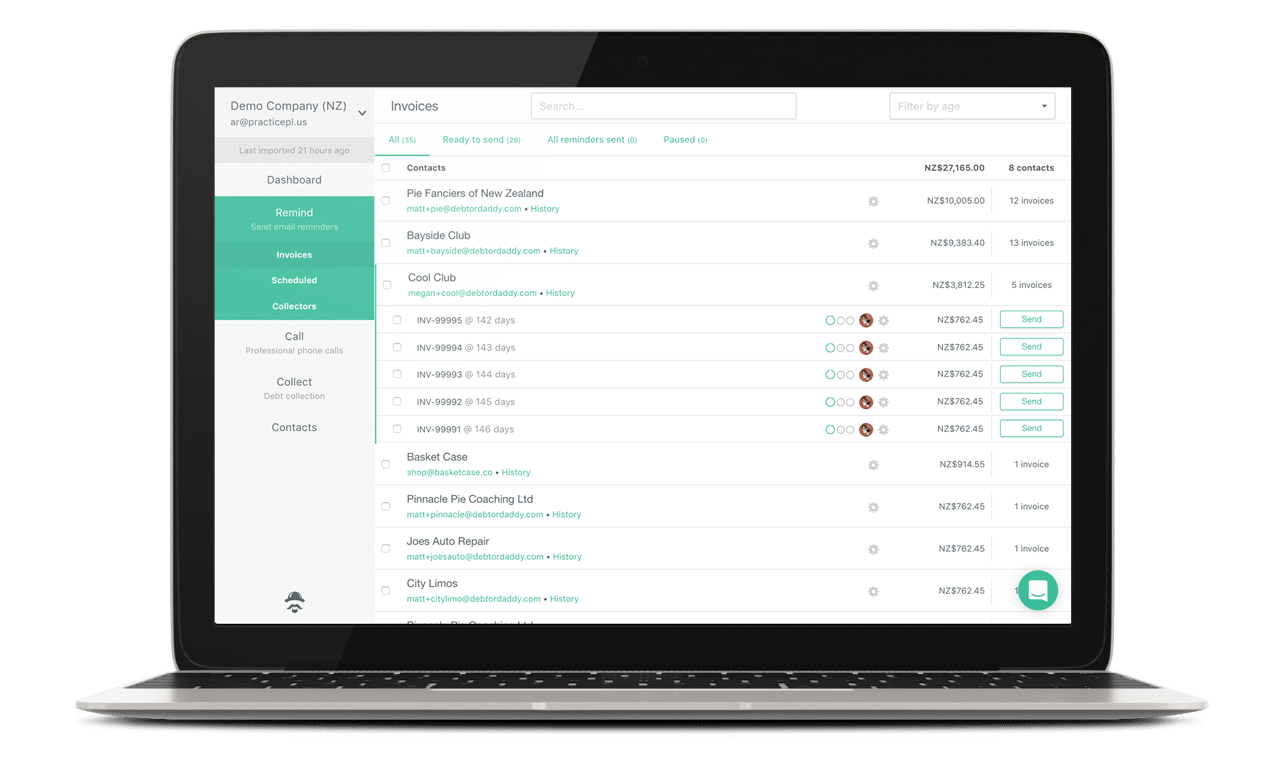 Debtor Daddy Automated Reminders With A Personal Touch - Quickbooks invoice reminders